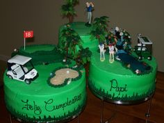 Multi cake golf theme