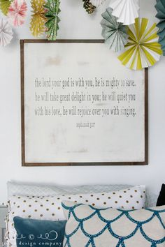 He takes great delight in you... I love this sign idea, for one thing. What a beautiful verse to hang above your daughter's bed! I also love the perspective on dealing with bullies and accepting ourselves and having God's approval versus needing approval from others.