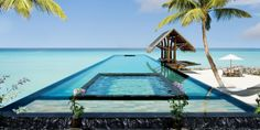 One Reethi Rah: Cool off with a dip in the beachside lap pool.