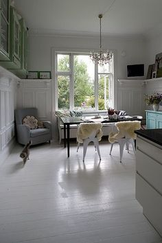 Beautiful. (Though white wood floors are a fantasy.)