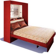 love that this murphy bed turns into a table when closed