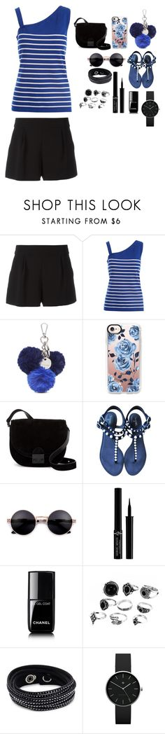 """My Two Favourite Colours"" by the-love-star786 ❤ liked on Polyvore featuring Boutique Moschino, August Silk, Nine West, Casetify, Loeffler Randall, Chanel, Giorgio Armani, Swarovski, Newgate and black"