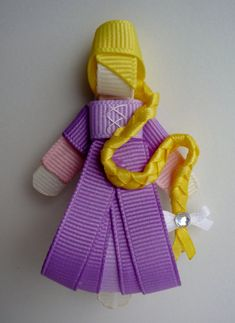 Rapunzel Hair-clip Ribbon Sculpture by TakeABowHandcrafts on Etsy