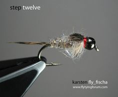 Tungsten bead head GRHE - Step by Step Patterns & Tutorials - Fly Tying Fly Tying Supplies, Fly Tying Tools, Fly Tying Materials, Fly Tying Vice, Fly Tying Desk, Nymph Fly Patterns, Fly Tying Patterns, Fly Fishing Nymphs, Circle Hook