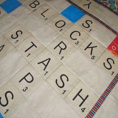 scrabble quilt - I love playing Scrabble, this is such a brill idea