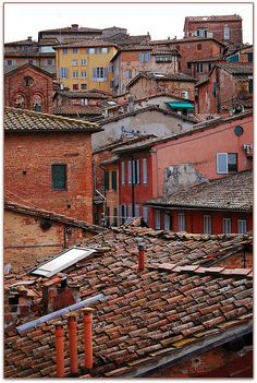 | ♕ | Roofs of Burnt Siena | by © Noelle Smith |...