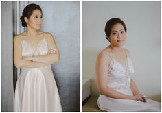 Pretty in Pink. The Bride before the wedding ceremony (designed by Tammy Tan).