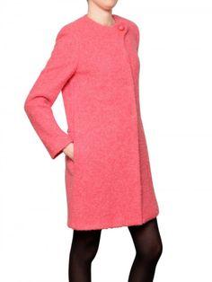 Bouclé Wool Mohair Coat - Lyst