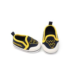 West Virginia Mountaineers Crib Shoes - Baby, Infant Unisex, Size: 6-9 Months, Blue