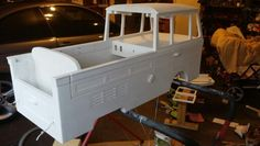 Kombi pedal car M K 2 getting an under coat of paint
