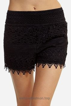 ToBeInStyle Women's Crotchet Lace Shorts – Black – 1XL  BUY NOW     $18.95    These stretch shorts are perfect when you are looking for a comfortable and stylish piece to wear out.Styles: Crotchet, Diamond, Scalloped and Floral Materials: 100%  ..
