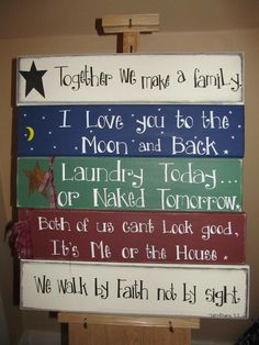 Wooden painted signs