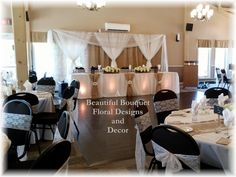 Burlap and Head Table
