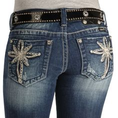 Miss Me Jeans #Miss_Me_Jeans #fashion #blue_jeans #love Miss Me Jeans - Embellished Flower Embroidery Slim Fit