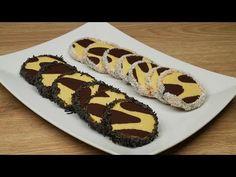 Τραγανά μπισκότα ζέβρα   Foodaholics - YouTube Colored Cookies, Hot Dog Buns, Sugar, Bread, Desserts, Recipes, Food, Youtube, Tailgate Desserts