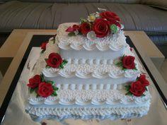 New cake designs birthday simple ideas Fondant Cupcakes, Cake Icing, Cupcake Cakes, Pretty Cakes, Beautiful Cakes, Buttercream Cake Designs, Buttercream Frosting, Square Wedding Cakes, Wedding Cupcakes