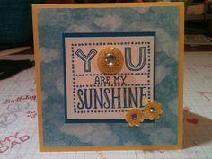 Sunshine Card: Stampin' in the Sun!