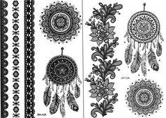 Nowa Dreamcatcher & Mandala Temporary Tattoo