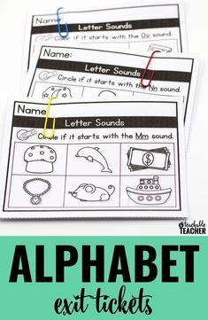 Alphabet exit ticket