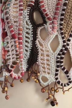 Freeform Crochet Vest Sweater Wearable Art by levintovich Art Au Crochet, Crochet Motifs, Freeform Crochet, Crochet Stitches Patterns, Love Crochet, Irish Crochet, Knit Crochet, Knitting Patterns, Yarn Crafts