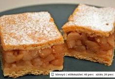 Almás pite Hungarian Cuisine, Hungarian Recipes, Hungarian Food, Apple Pie, Cornbread, Food To Make, Ale, Sweets, Dishes