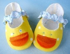 SALE PDF ePATTERN Duck Shoes Plain Shoes and por preciouspatterns