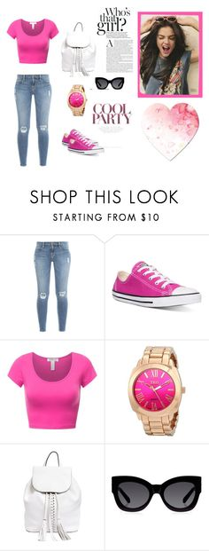 """Untitled #2"" by minela-fehric ❤ liked on Polyvore featuring Frame Denim, Converse, Rebecca Minkoff and Karen Walker"