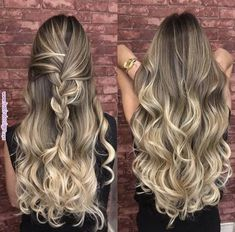 Made of virgin human hair. Hair color: As picture shown. Each hair individually implanted and hand-tied. Dark Ombre Hair, Blonde Balayage Highlights, Brown Blonde Hair, Ombre Hair Color, Balayage Hair, Bayalage, Cabelo Ombre Hair, 100 Human Hair Wigs, Pinterest Hair