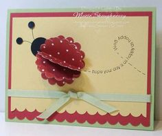 Stamping Inspiration from MarieStamps.com: FLIGHT OF THE LADYBUG PUNCH ART CARD with Stampin' Up! Punches