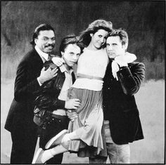 Billy Dee Williams, Mark Hamill, Carrie Fisher, and Harrison Ford photographed by Annie Leibovitz for Rolling Stone magazine, July 24th 1980.
