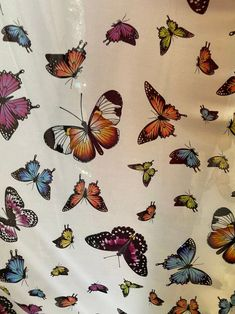 """New butterflies design multi color print on good quality stretch power mesh 4-way stretch 58/60"""" Sold by the yard by la20fabrics on Etsy Mesh Fabric, Spandex Fabric, Crushed Velvet Fabric, White Dragon, Butterfly Design, Printing On Fabric, Butterflies, Color Print, California Usa"""