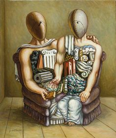 Giorgio de Chirico - Archeologi – 1978 a Greek-born Italian artist) Italian Painters, Italian Artist, Galerie D'art, Traditional Paintings, Gay Art, Art Studies, Surreal Art, Figurative Art, Les Oeuvres
