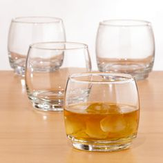 Stackable Double Old Fashioned Glass, Set of 4  (World Market) I like that these are stackable to maximize space in the Clyde Trunk Bar - not that it's lacking!