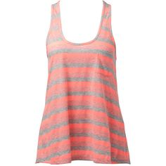 Leah Striped Racer Tank ❤ liked on Polyvore