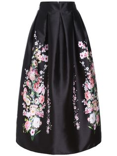 Multicolor High Waist Floral Long Skirt