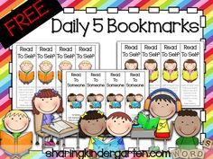 FREE Daily 5 Bookmarks Make double sided copies of these bookmarks for each child's book box. It reminds them of the rules to complete Read to Self and Read to Someone