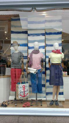 Sailor stripes window at Seasalt
