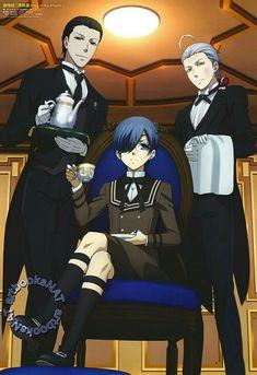 Sebastian, Snake, and Ciel | Kuroshitsuji