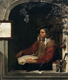 El boticario (también conocido como el Químico) Gabriel Metsu - 1661