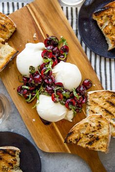 This Burrata with Balsamic Cherries and Basil the ultimate summer appetizer! Creamy, fresh burrata paired with juicy cherries and fragrant basil uses summer produce at its best, and no cooking required!