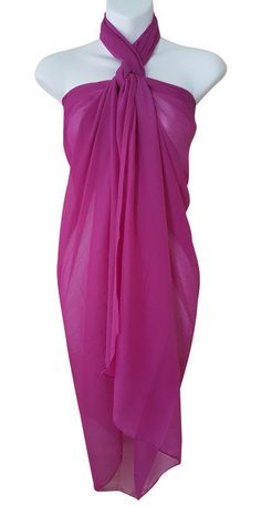 19.59$  Watch here - http://viwil.justgood.pw/vig/item.php?t=emynk2f36312 - Sheer Solid Purple Sarong Pareo Dress Big Scarf Wrap Swimsuit Beach Cover Shawl
