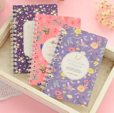 NOTEBOOKS SET OF 2 NOTEPAD JOURNAL DIARY NOTES pink blue gifts wedding favours