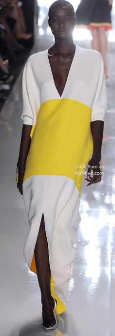 I need a color blocked dress like this Ralph Rucci Spring 2013