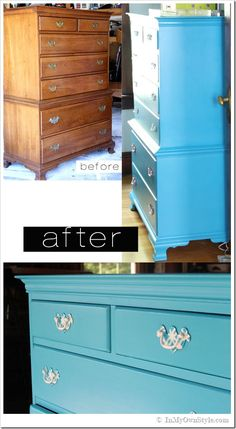 How to Paint An Old Wood Chest of Drawers