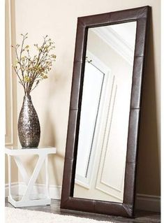 Cool looking floor mirror has classic style that meshes in a room that features brown tones. Classic Elegance, Classic Style, Brown Home Decor, Floor Mirror, Flooring, Wood Floor, Cool Stuff, Elegant, Modern
