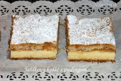 Jablkový koláč s pudingom (fotorecept)