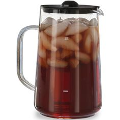 Capresso 80-oz. Glass Iced Tea Pitcher ($30) ❤ liked on Polyvore featuring home, kitchen & dining, serveware, drinks, glass tea maker, beverage server, drink server, glass beverage server and iced tea maker