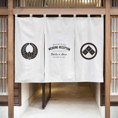Noren Curtains, Logo Design, Graphic Design, Logo Restaurant, Make Design, Creative Inspiration, Branding, Signs, Interior