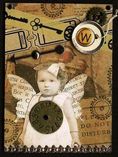 Nostalgic Collage': Willa - Steampunk Fairy ATC