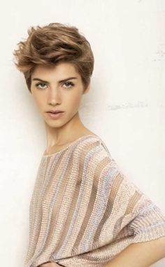 Funky Brown Pixie Cuts